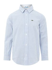 Lacoste Boys Long Sleeve Stripe Shirt