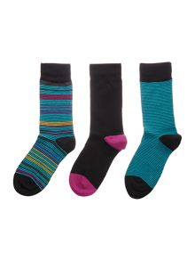 Pringle Thin and Multi Stripe Sock