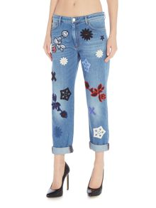 Sportmax Code ULLA denim embroidered shape jean