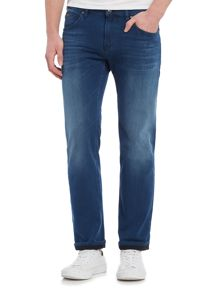 Hugo Boss C-maine regular fit 5 pocket mid wash jeans