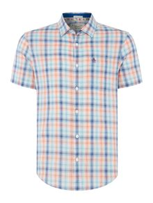 Original Penguin Plaid-Check Short-Sleeve Shirt