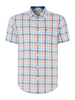 Plaid-Check Short-Sleeve Shirt