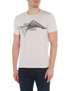 Hugo Boss Rubberised Graphic Print T-Shirt