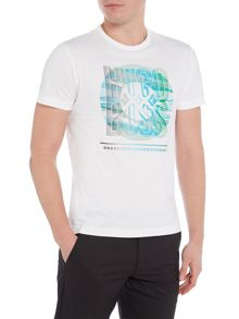 Hugo Boss Circle Text Logo Crew Neck T-Shirt