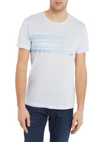 Hugo Boss Brushed Stripe Graphic T-Shirt