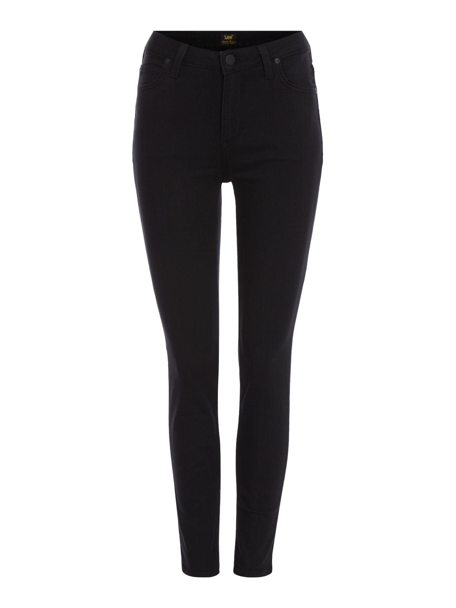 Scarlett High Waisted Jeans In Black Rinse, Black
