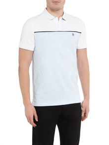Original Penguin Contrast Panel Short-Sleeve Polo-Shirt