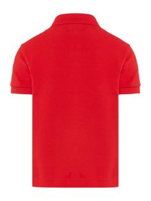 Lacoste Boys Solid Pique Short Sleeve Polo Shirt