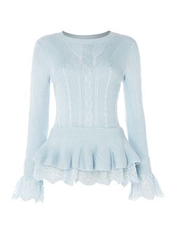 Long Sleeve Peplum Jumper