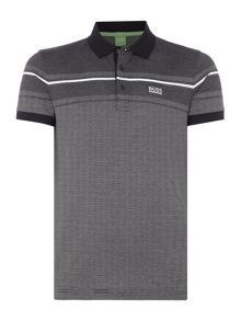 Hugo Boss Paule 5 slim fit textured stripe polo shirt