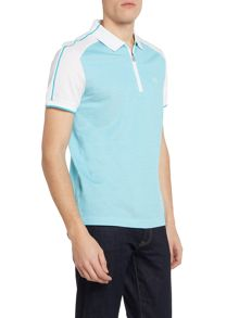 Hugo Boss Philix regular fit zip neck polo shirt