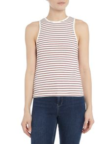 Lee Stripe tee top in white