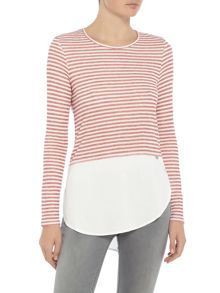 Salsa Long sleeve jersey top stripe detail