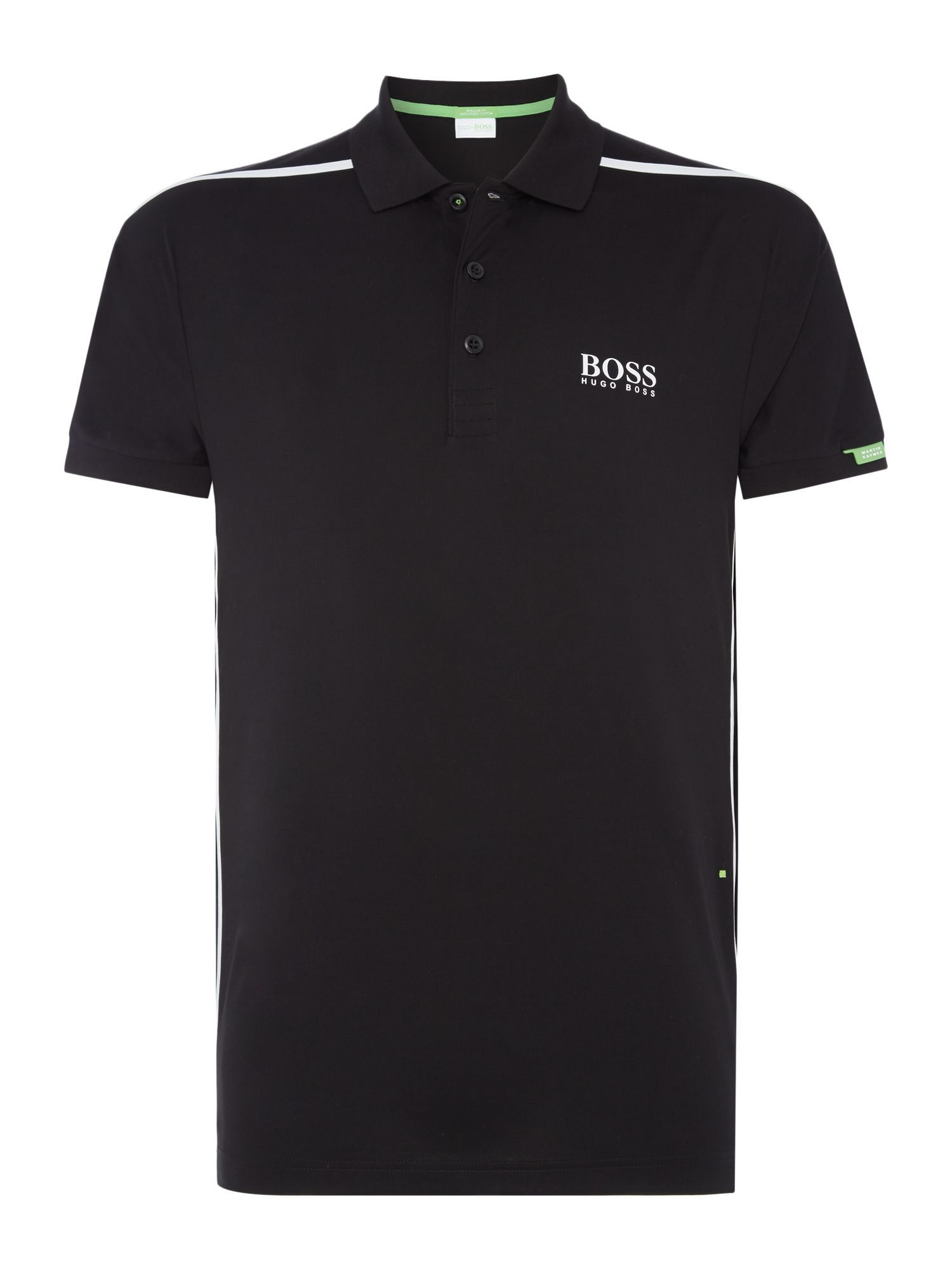 Mens Hugo Boss Golf paddy MK 2 pro side stripe polo shirt Black