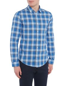Hugo Boss C-bustai checked long-sleeve shirt