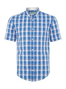 Hugo Boss C-baldasarino checked short-sleeve shirt