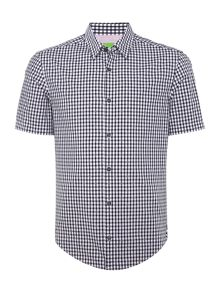 Hugo Boss C-bustaino gingham checked short-sleeve shirt