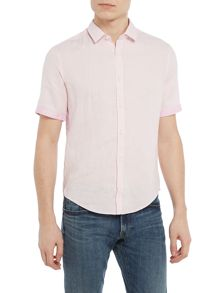 Hugo Boss C-barbuino short-sleeve linen shirt