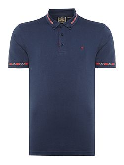 Ridge tartan trim polo short sleeve polo