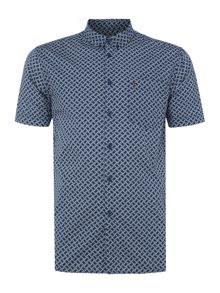 Merc Avery retro geo print short sleeve shirt