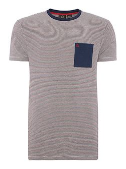 Clifton stripe pocket short sleeve t-shirt