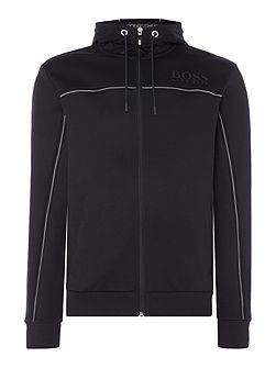 Saggy Half Zip Hoodied Sweat Top