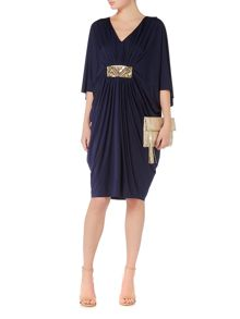 Biba Embellished waist oversized day dress