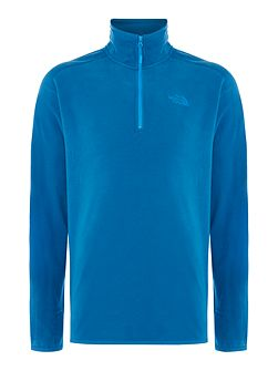 Mens 100 glacier quater zip sweat
