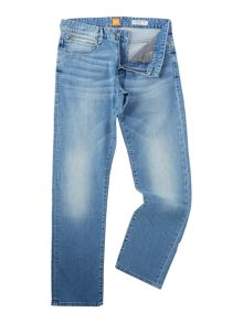 Hugo Boss Orange 24 regular fit light wash jeans