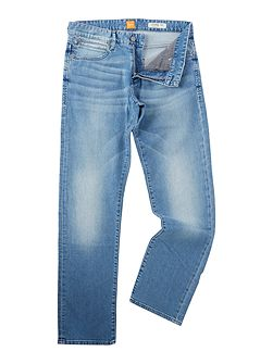 Orange 24 regular fit light wash jeans