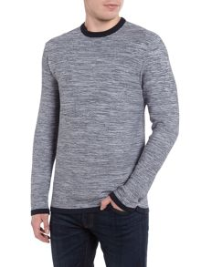 Barbour Spacedye bower crew neck jumper