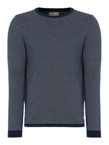 Jack & Jones Stripe Crew-Neck Knitted Jumper