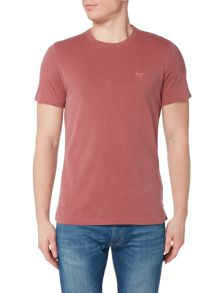 Barbour Garment dye logo short sleeve t-shirt