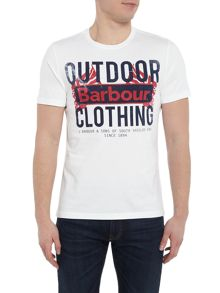 Barbour Large outdoor logo short sleeve t-shirt