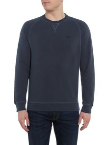 Barbour Garment dyed crew neck jumper