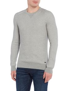Hugo Boss Kawanan crew neck textured knitted jumper