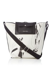 Calvin Klein Isa reversible bucket hobo bag
