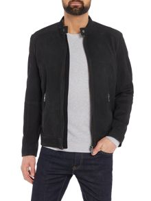 Hugo Boss Jonate zip-up leather biker jacket