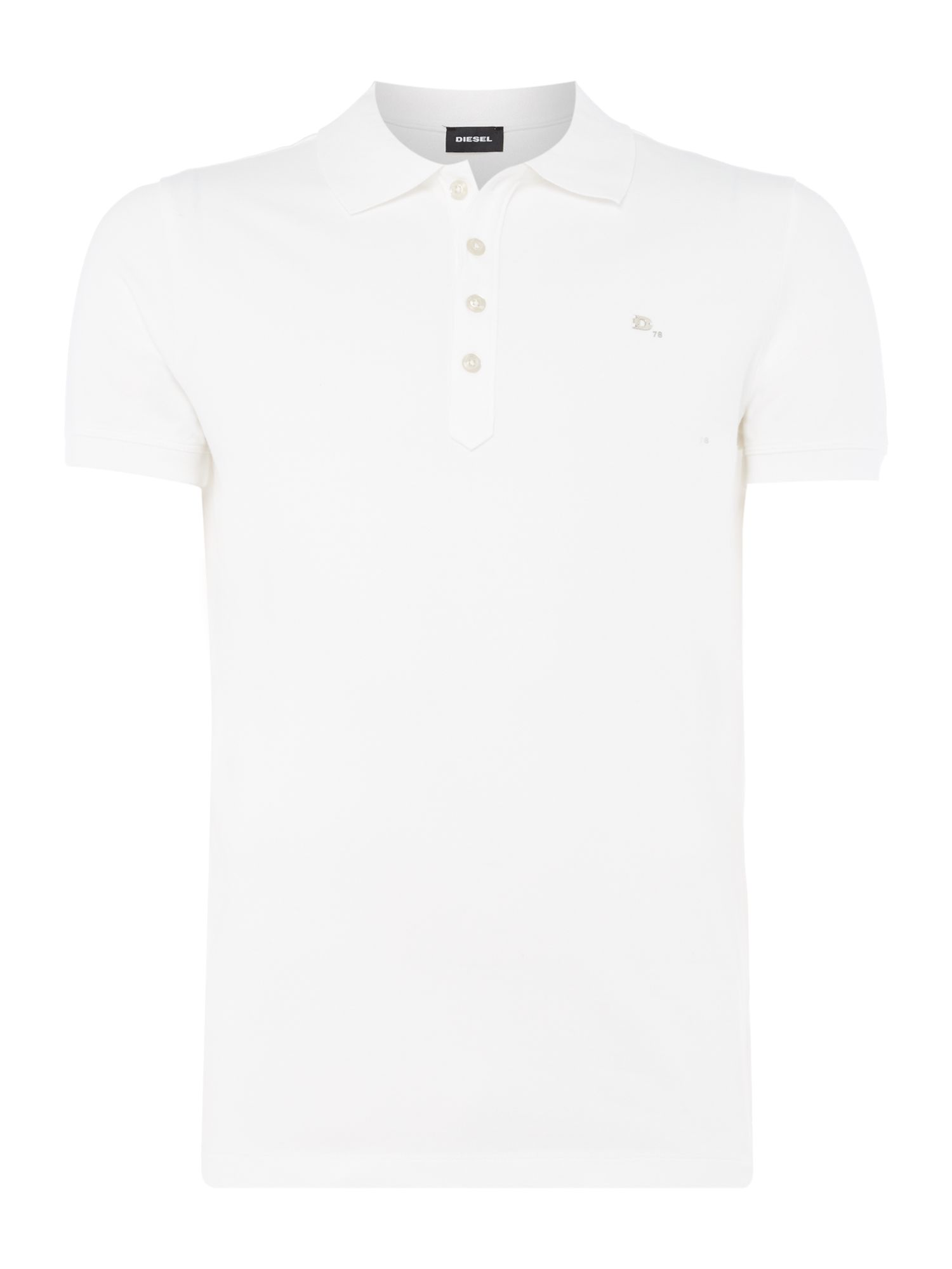 Men's Diesel T-Heal Logo Polo Shirt, White