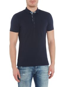 Diesel T-Free Denim Contrast Polo Shirt