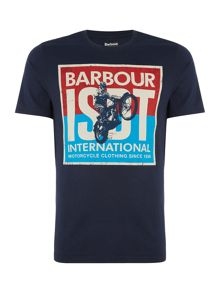 Barbour ISDT motor print short sleeve t-shirt