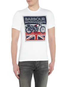 Barbour Union jack motor print short sleeve t-shirt
