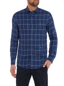 Diesel Window Pane Check Long Sleeve Shirt
