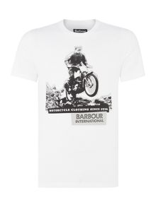 Barbour Monochrome bike print photo t-shirt