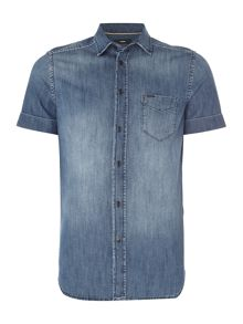 Diesel Short Sleeve Denim Shirt
