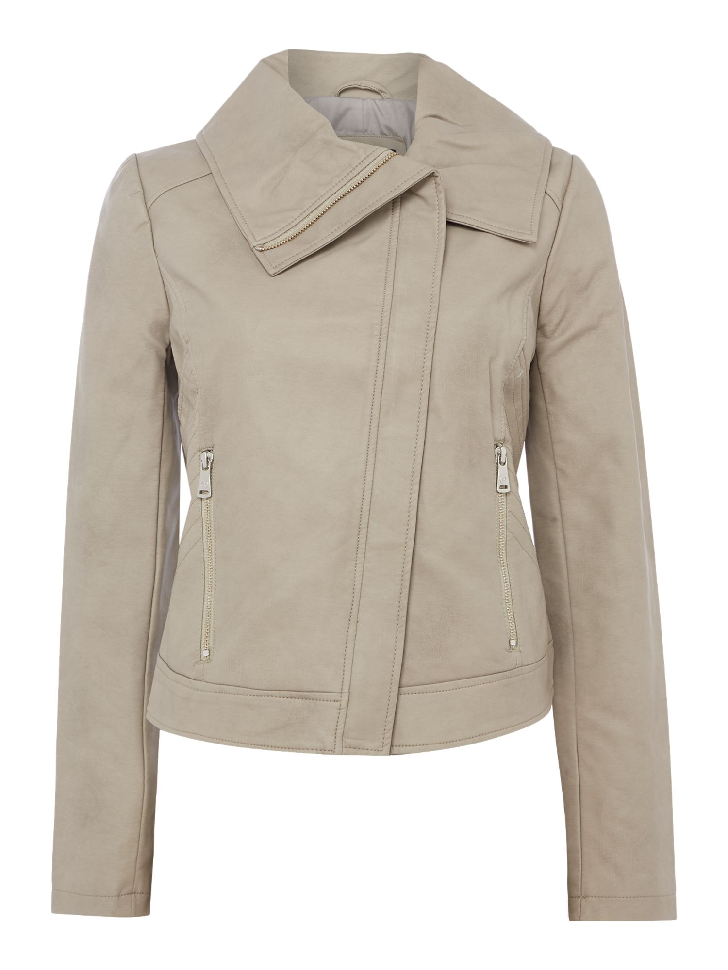 Bernardo Winged Collar Jacket, White