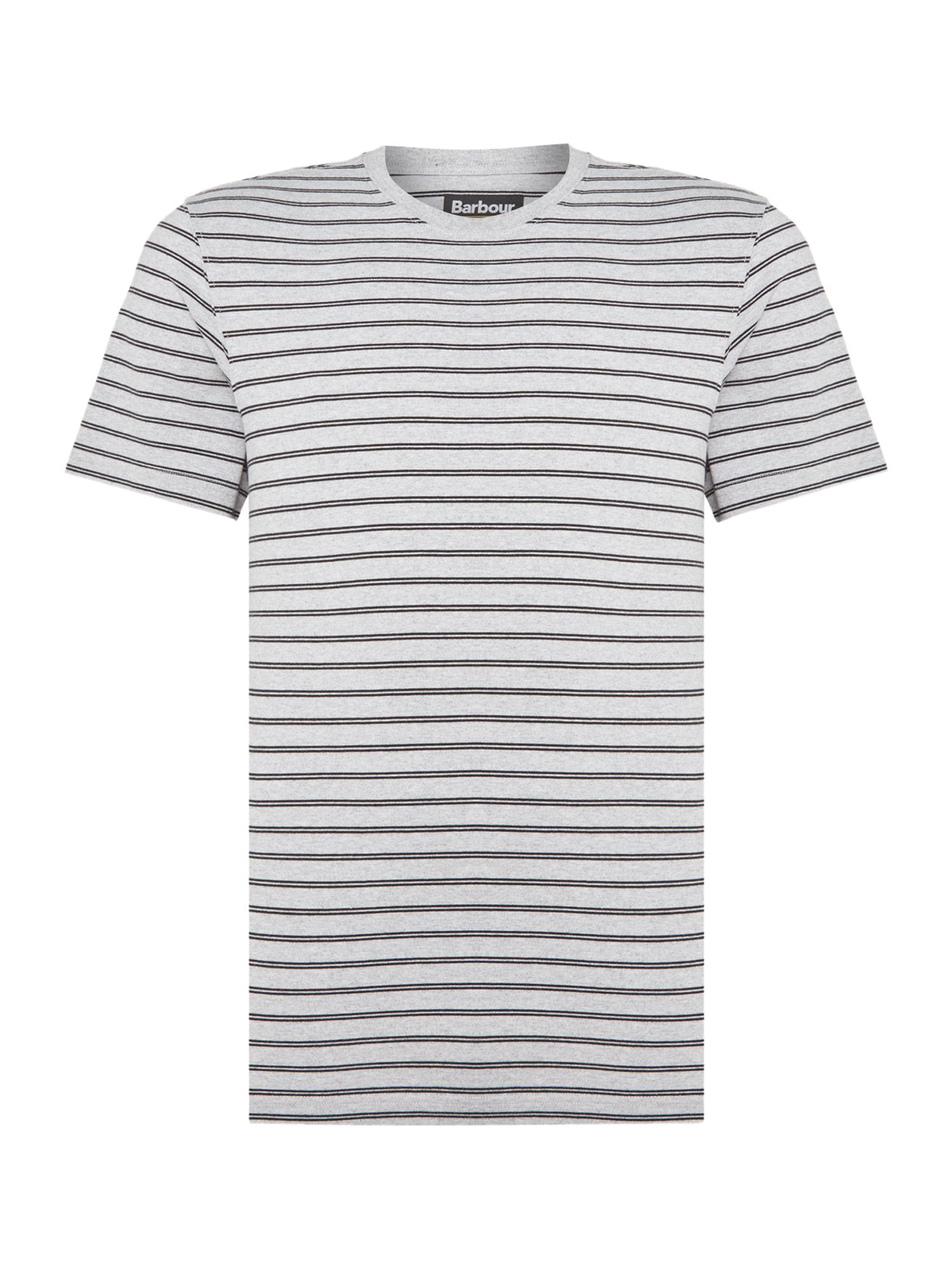 Men's Barbour Darly short sleeve striped t-shirt, Grey