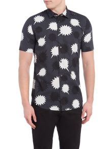 Diesel Short Sleeve Speech Marks Print Shirt