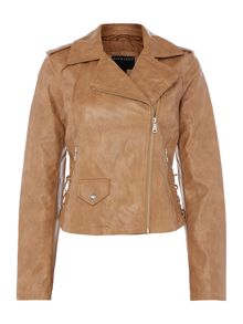 Bernardo Motor jacket with lace up panel