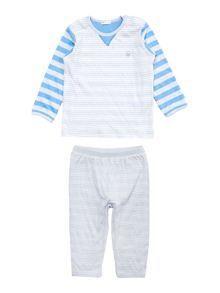 Benetton Baby Striped Long Sleeve T-Shirt & Jogger Set